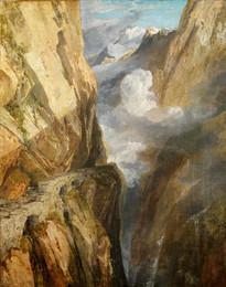1935P198 The Pass of Saint Gotthard, Switzerland
