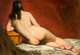 1929P204 Nude Study Of A Reclining Woman