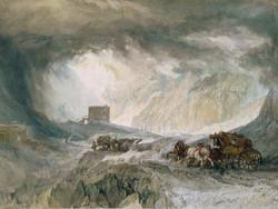 1953P409 Snowstorm, Mont Cenis