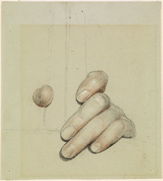 1906P854 St George for Merrie England - Study of left Hand grasping a Bar