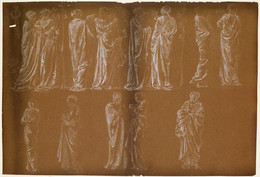 1935P529 Female - Thirteen Drapery Studies
