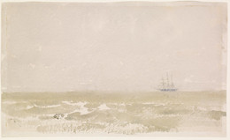 1930P335 Grey Mist at Sea