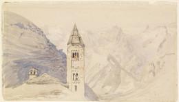 1905P6 Church Tower of Courmayeur