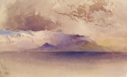 1937P382 View of the Bay of Naples and Vesuvius