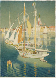 1945P54 Ships from the Adriatic, Venice