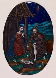 1929M195 Enamel Plaque-Nativity Scene