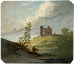 1977V185 Stone Ruin on Hilltop