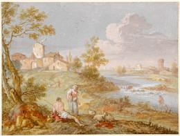 1953P443 Italianate Landscape with River