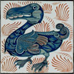 1981M131 William de Morgan Wall Tile