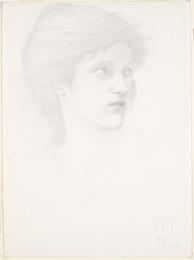 1898P45 The Sirens - Female Head Study