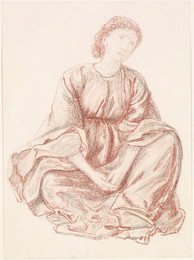1904P191 Green Summer - Drapery Study for the Central Figure