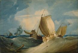 1926P2 Rough Weather, Dutch and English Fishing Boats