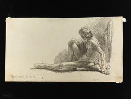 1975P139 Study From The Nude With One Leg Extended