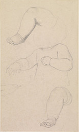 1906P688 Oure Ladye of Saturday Night - Three Studies of Arms and Legs of Child on Madonna's Knees