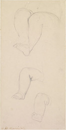 1906P689 Oure Ladye of Saturday Night - Three Studies of Child's Legs on the Madonna's Knees
