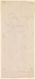 1906P696 The Spirit of Justice: Sketch of a standing, naked Child
