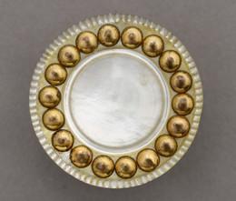 1953F19 Pearl and Copper Button