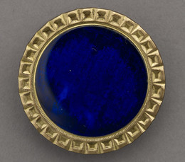 1953F311 Copper-Gilt Metal and Glass Button