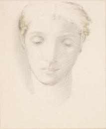 1904P23 Female - Head Study of Agnes Macdonald