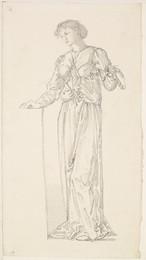 1904P26 The Garland Weavers - Drapery Study