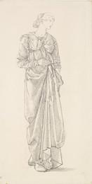 1904P29 The Garland Weavers - Drapery Study