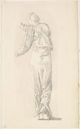 1904P28 The Garland Weavers - Drapery Study