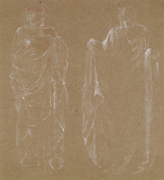 1904P47 Female - Drapery Study of two Standing Figures