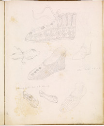 1952P6.38 Studies of French shoes
