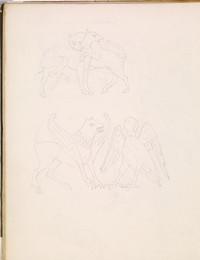 1952P6.41 Sketch of French heraldic creatures