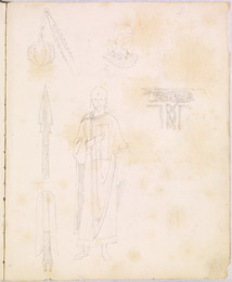 1952P6.50 Studies of weaponry and costume