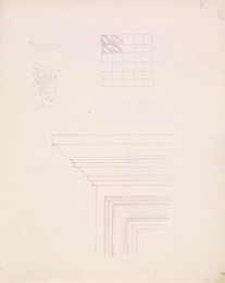 1952P6.54 Sketch of details of architectural corners and decoration