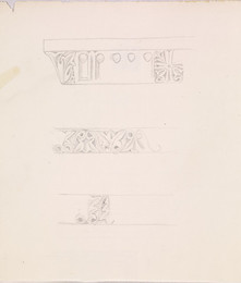 1952P6.55 Studies of decorative moulding