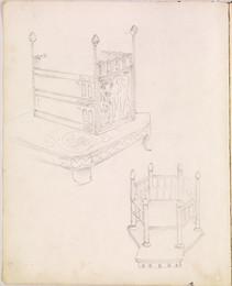 1952P6.57  Studies of Medieval thrones