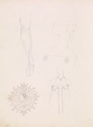 1952P6.61 Sketch of details of costume and jewellery