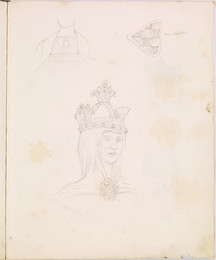 1952P6.62 Sketch of costume decoration and crown
