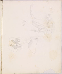 1952P6.64 Sketchbook of details of armour and heraldic decoration