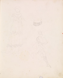 1952P6.70 Study of female costume and armour