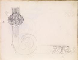 1952P6.7 Studies of frieze decoration and crozier