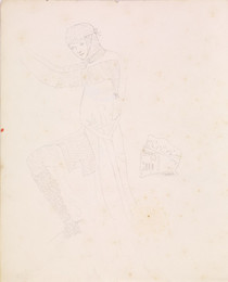 1952P6.71 Study of a Medieval knight with helmet