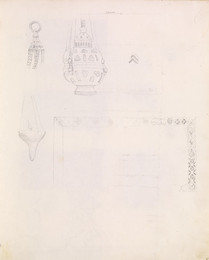 1952P6.78 Sketch of details of censers and decorative border