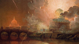 1920x1080 1961P34 Firework Display at the Castel St Angelo