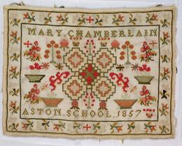 1960M59 Embroidered Sampler - Mary Chamberlain