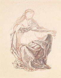 1904P99 Drapery Study of a Seated Woman
