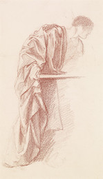 1904P179 St Theophilus and the Angel - Drapery Study of a Mourner