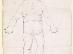 1980P40 Caricature - Goblin Wrestler from behind