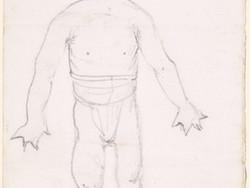 1980P39 Caricature - Goblin Wrestler