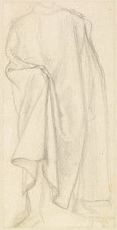 1904P326 Male - Study of Drapery, possibly for the Figure of Dante