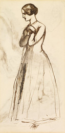1904P438 Benedick and Beatrice - Figure Sketch of a Woman