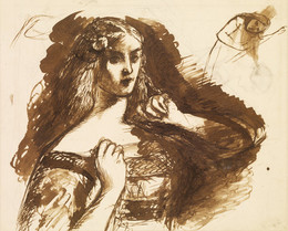 1904P438 Half-length sketch of a young Woman