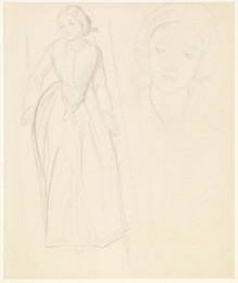 1904P457 The Boat of Love - Study for Beatrice